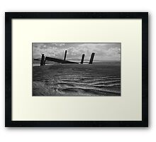 what once was..... Portsalon Beach, Donegal. Framed Print