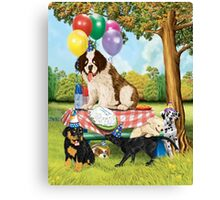 Puppy Party Canvas Print