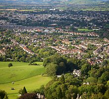 Leckhampton over Cheltenham by Christopher Bookholt