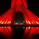 Azadi Tower (Red Reflection) -Tehran - Iran by Bryan Freeman