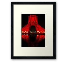 Azadi Tower (Red Reflection) -Tehran - Iran Framed Print
