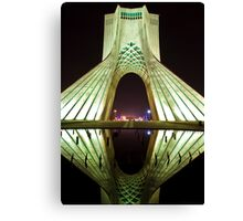 Azadi Tower (White Reflection) -Tehran - Iran Canvas Print