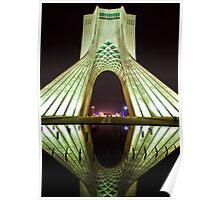 Azadi Tower (White Reflection) -Tehran - Iran Poster