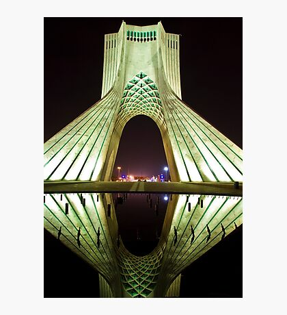 Azadi Tower (White Reflection) -Tehran - Iran Photographic Print
