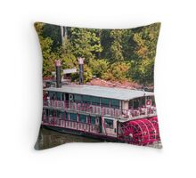 Willamette Queen Paddle Wheel Boat Throw Pillow