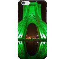 Azadi Tower (Green Reflection) -Tehran - Iran iPhone Case/Skin