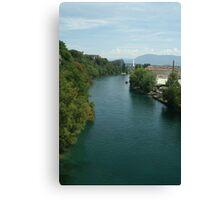 Rhône river Canvas Print