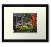 Back Porch Framed Print