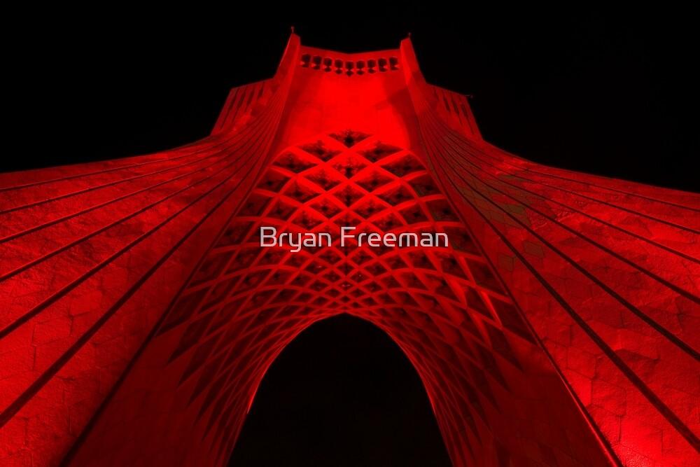 Azadi Tower (Red) -Tehran - Iran by Bryan Freeman