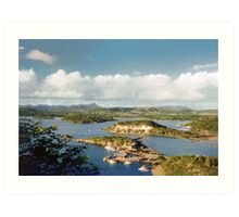 Curacao, over view Art Print