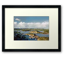 Curacao, over view Framed Print