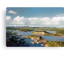 Curacao, over view Canvas Print