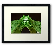 Azadi Tower (Green) -Tehran - Iran Framed Print
