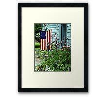 Patriotic Garden Framed Print