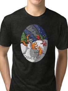 the Burning Snow Man Tri-blend T-Shirt
