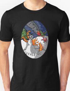 the Burning Snow Man T-Shirt