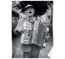 Street Musician, Lviv, Ukraine Poster