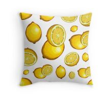 Veggiephile - Lemons Throw Pillow
