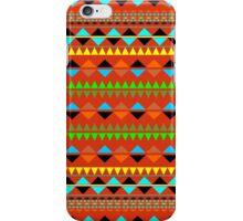 Aztec tribal pattern gray green red yellow green orange iPhone Case/Skin