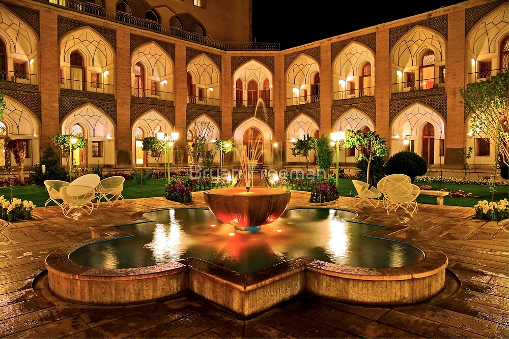 The Amazing Abbasi Hotel - Isfahan - Iran by Bryan Freeman