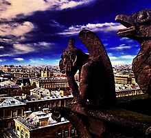 Notre Dame Sculptures Paris by stockfineart