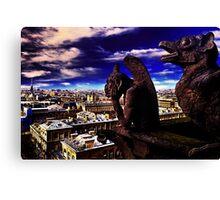 Notre Dame Sculptures Paris Canvas Print