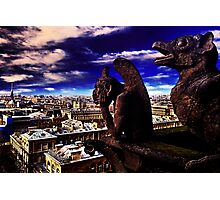 Notre Dame Sculptures Paris Photographic Print