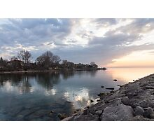 Limpid - Crystal Clear Peaceful Waterfront Sunrise Photographic Print