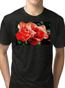 Apricots Roses Tri-blend T-Shirt