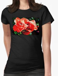 Apricots Roses Womens Fitted T-Shirt