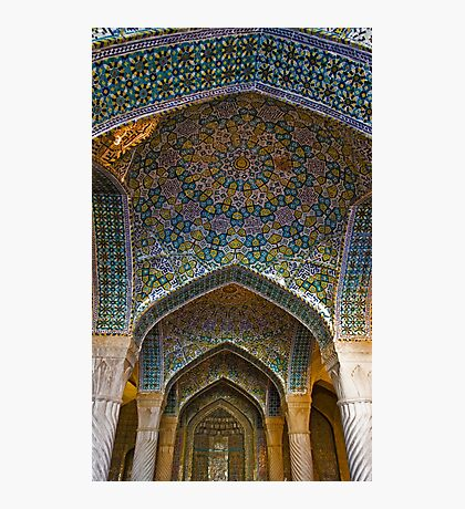 Vakil Mosque Main Entrance - Shiraz - Iran Photographic Print