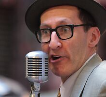 Busking Crooner by SteveDDay