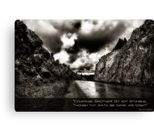 Courage Brother! Canvas Print