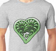 Koru Heart. Feel the Aroha! Unisex T-Shirt