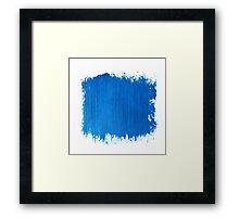 Square blue watercolour  Framed Print