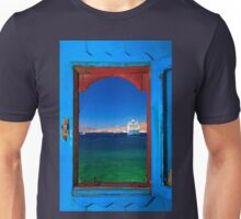 Window to the Aegean - Mykonos island Unisex T-Shirt