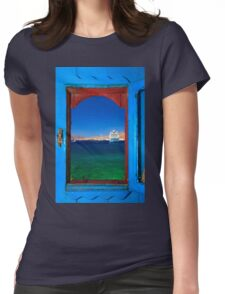 Window to the Aegean - Mykonos island Womens Fitted T-Shirt