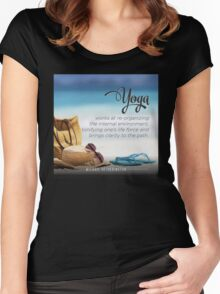 Yoga Brings Clarity to the Path Women's Fitted Scoop T-Shirt