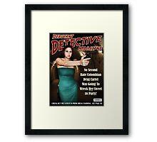 Detective Magazine Framed Print