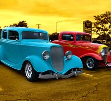 "1933 Ford ""Vicky"" and 1932 Ford 3 Window Coupe by TeeMack"