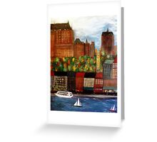 Quebec  City  Waterfront      Greeting Card