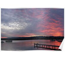 Winter Sunset - Bolton Point Poster