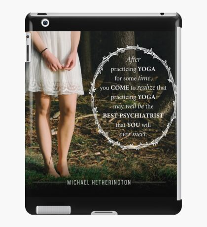 Yoga Psychiatry iPad Case/Skin