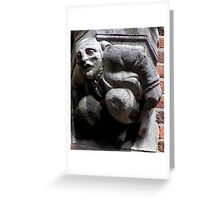 You're in trouble mate! Greeting Card