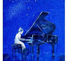 Little Pianist Photographic Print