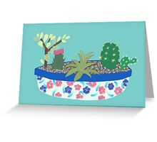 Bowl of Cacti Greeting Card