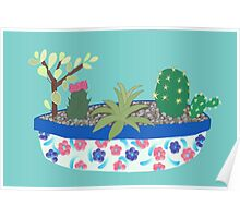 Bowl of Cacti Poster