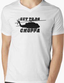 Get to the CHOPPA! Mens V-Neck T-Shirt