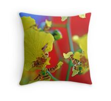 George Ramsay Orchids Throw Pillow
