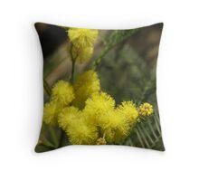 yellow pom-poms. Throw Pillow